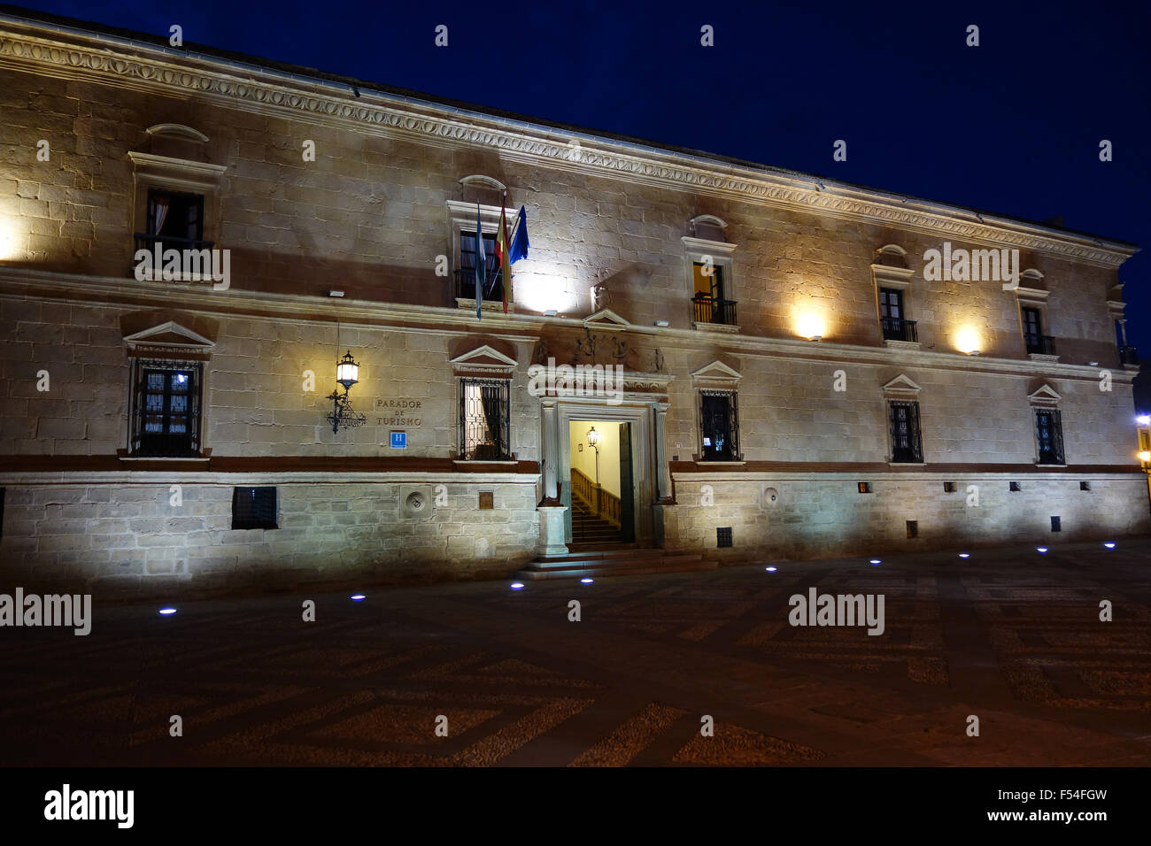 The Parador de Turismo at Ubeda in Andalusia Spain - Stock Image