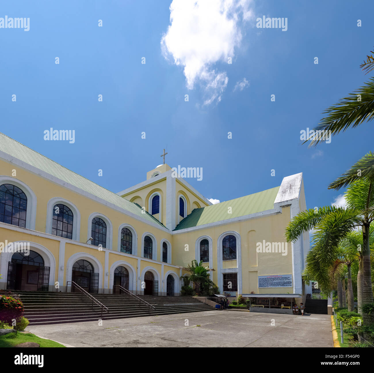 NAGA CITY, PHILIPPINES - MAY 28, 2015: Our lady of penafrancia church exterior. The Image of Our Lady of Penafrancia - Stock Image