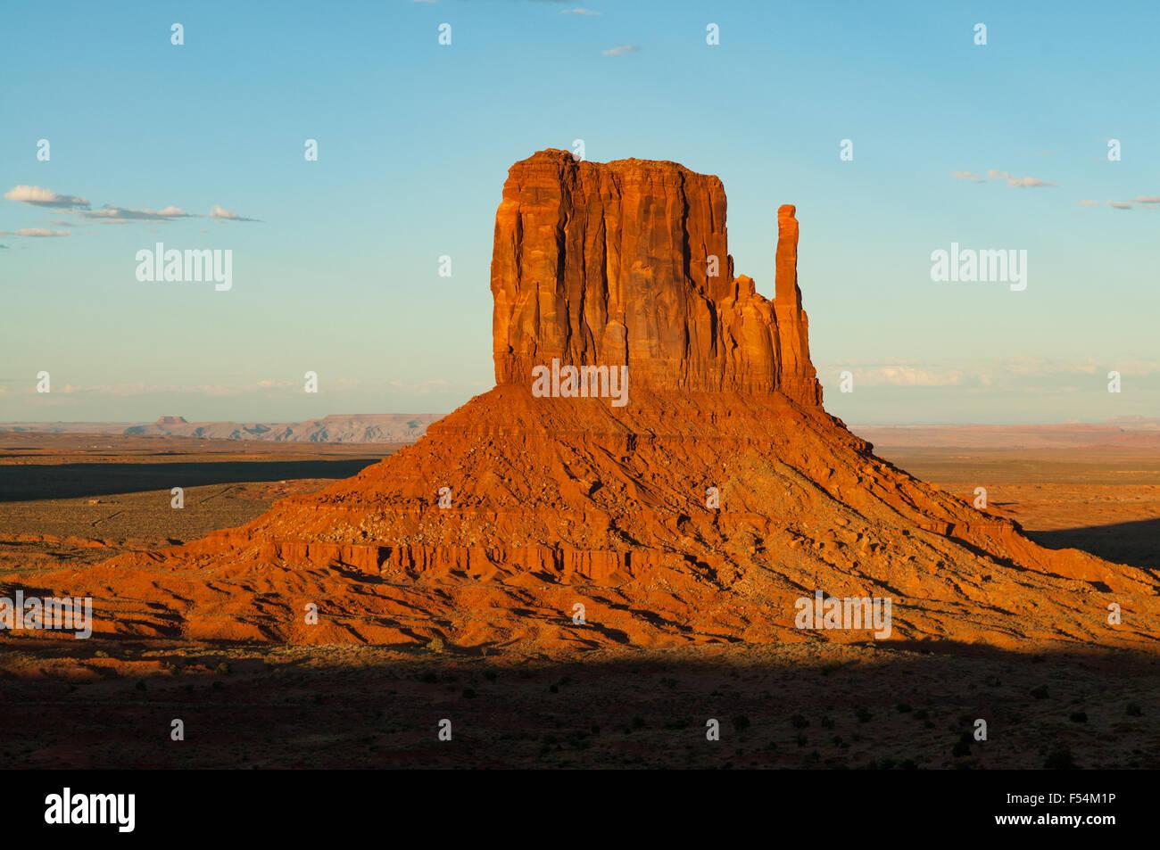 West Mitten Near Sunset Monument Valley Arizona Usa Stock Photo Alamy