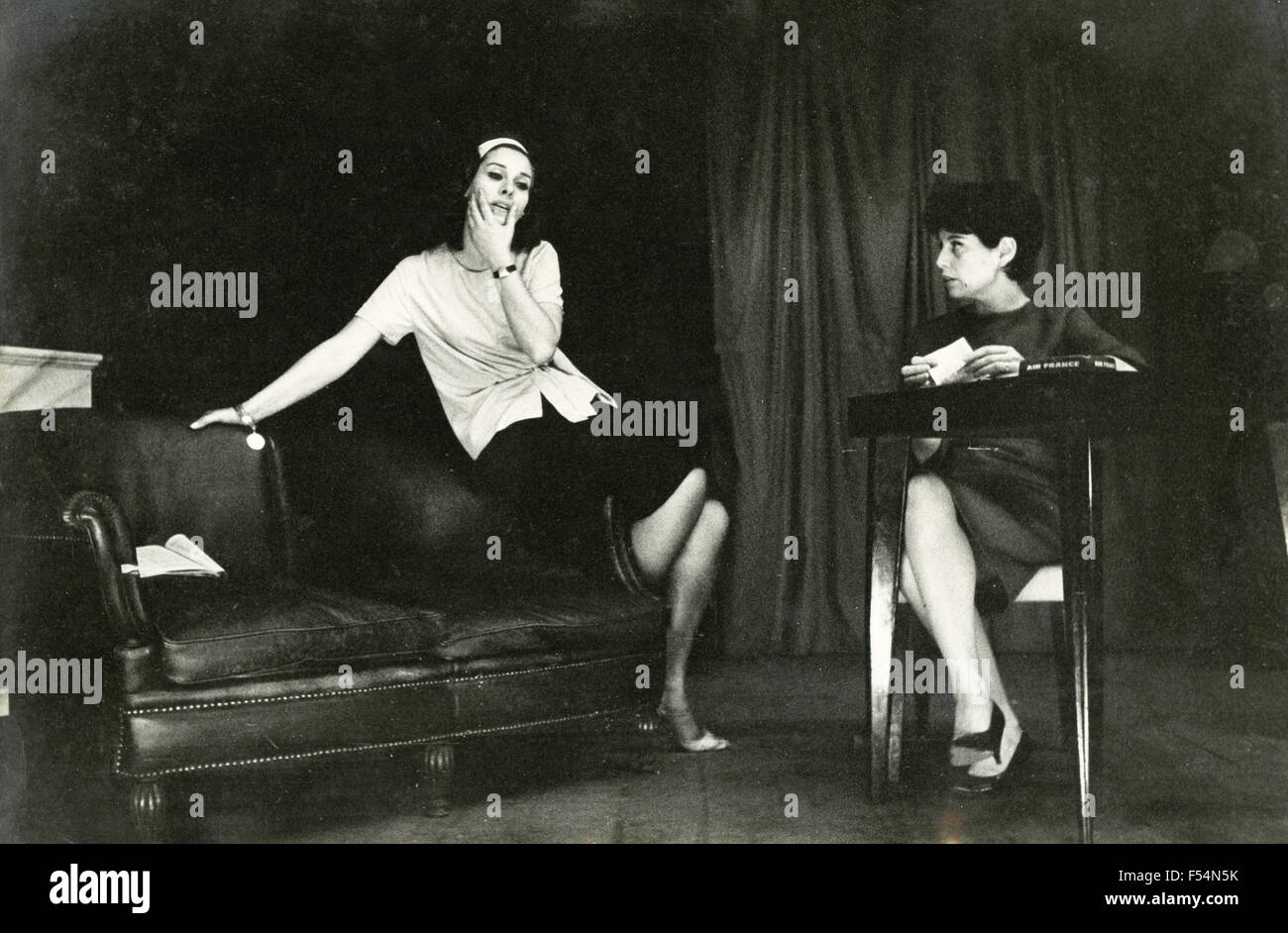 The Italian actress Marisa Belli and Valeria Sabel - Stock Image