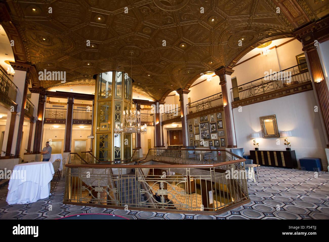 inside providence biltmore hotel - Stock Image