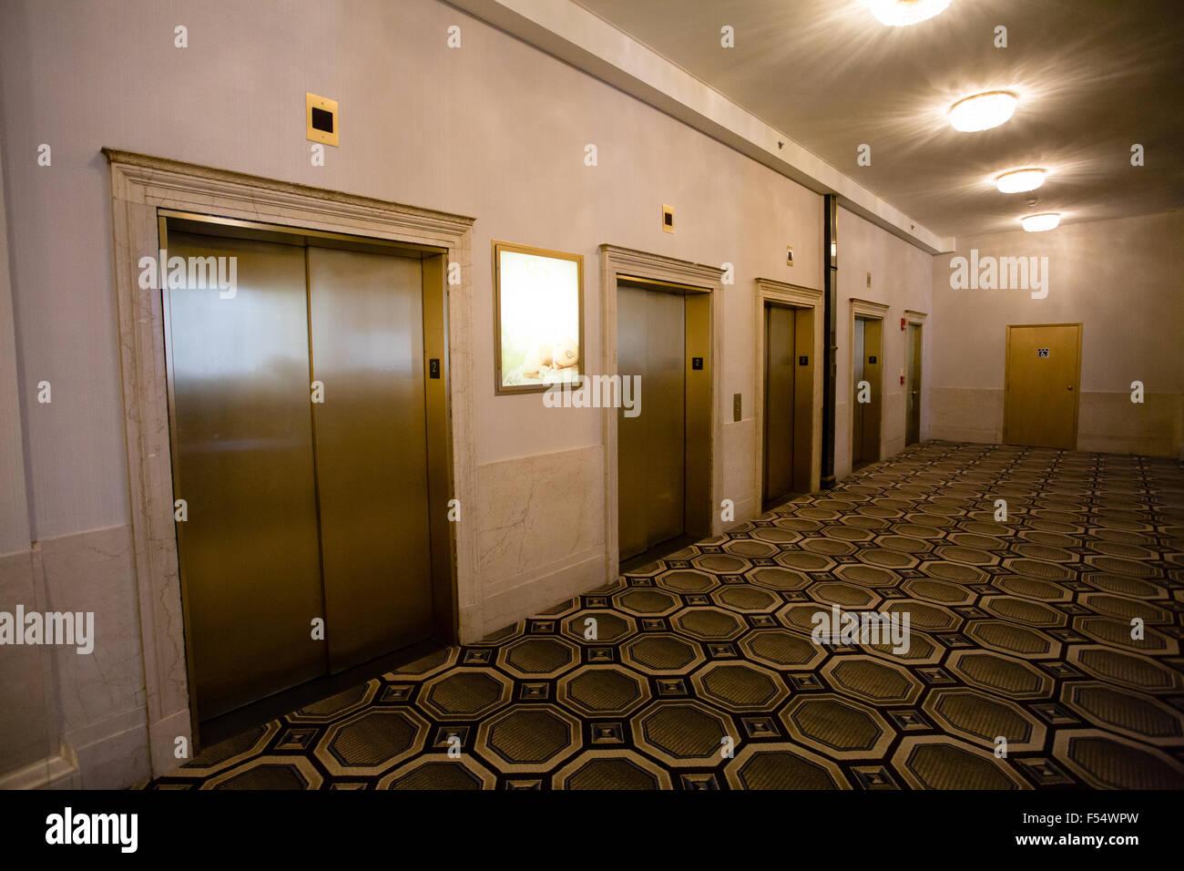 providence biltmore hotel elevators - Stock Image