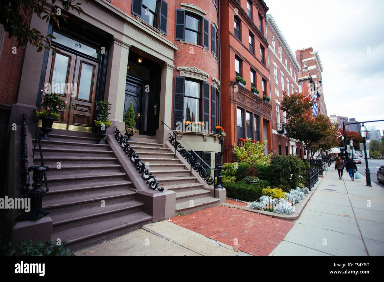 boston old brick buildings - Stock Image