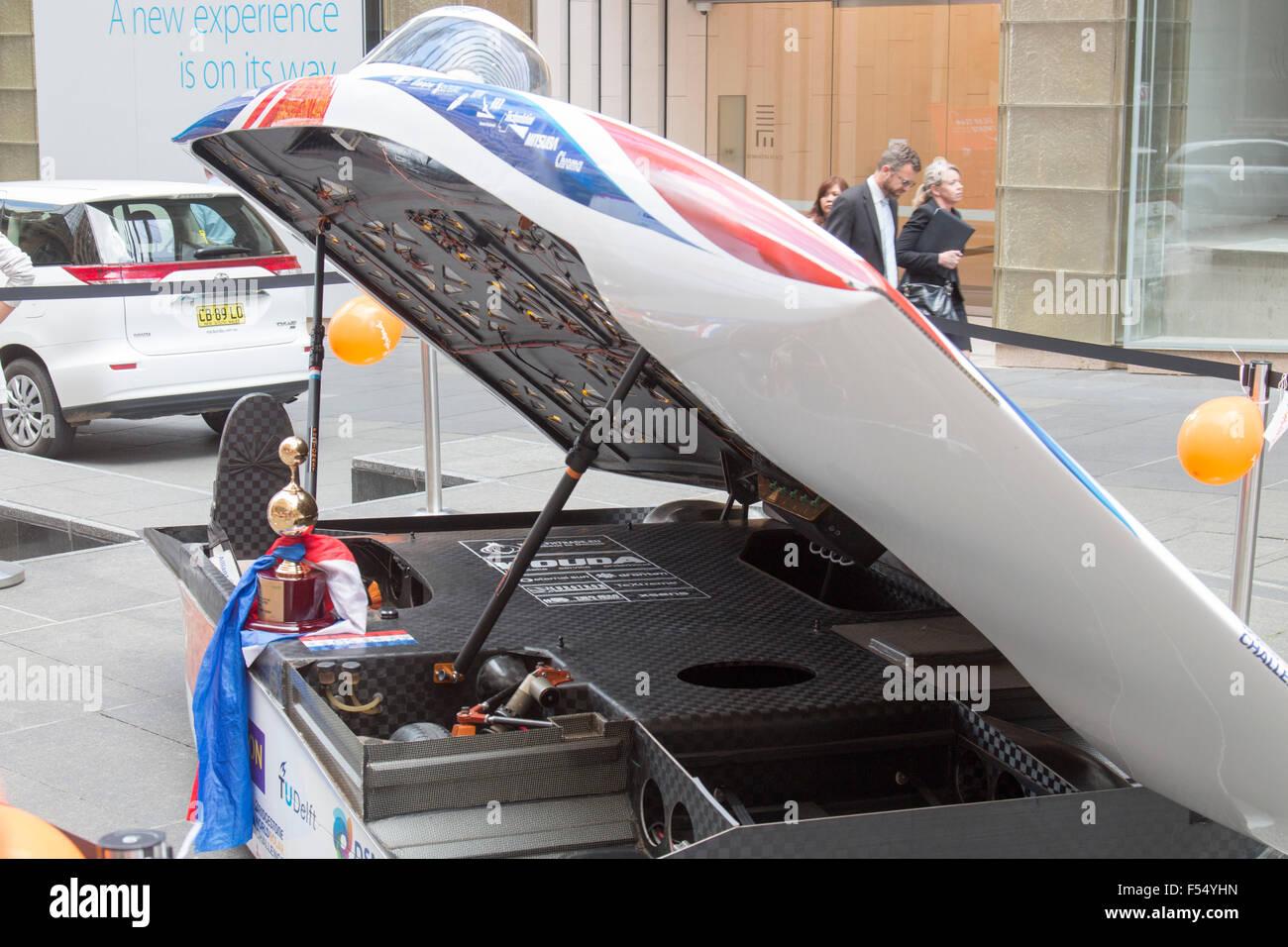 Sydney Australia 28th Oct 2015 Dutch Cars Nuon Solar And Team Stock Photo Alamy