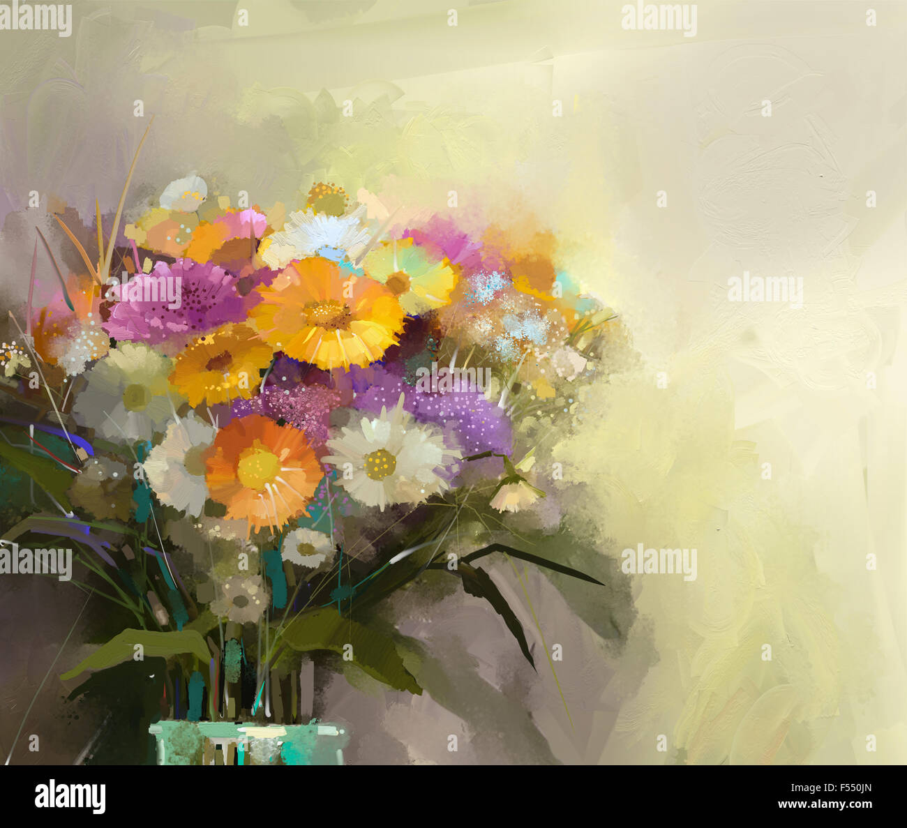 Bouquet flowers oil painting stock photos bouquet flowers oil oil painting still life bouquet of flowers in vase stock image izmirmasajfo