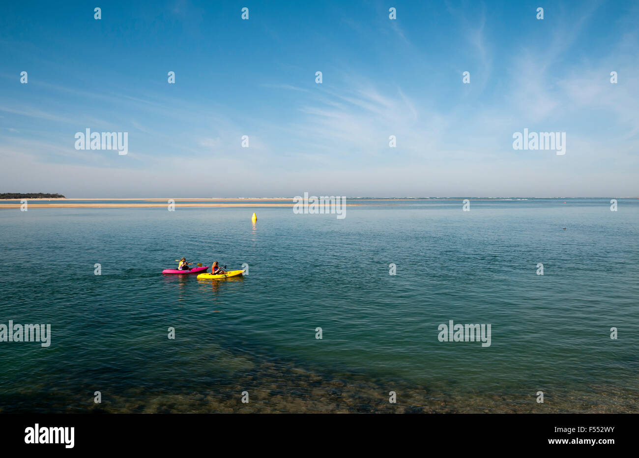 Canoeing early morning   Anderson Inlet Inverloch Victoria Australia - Stock Image