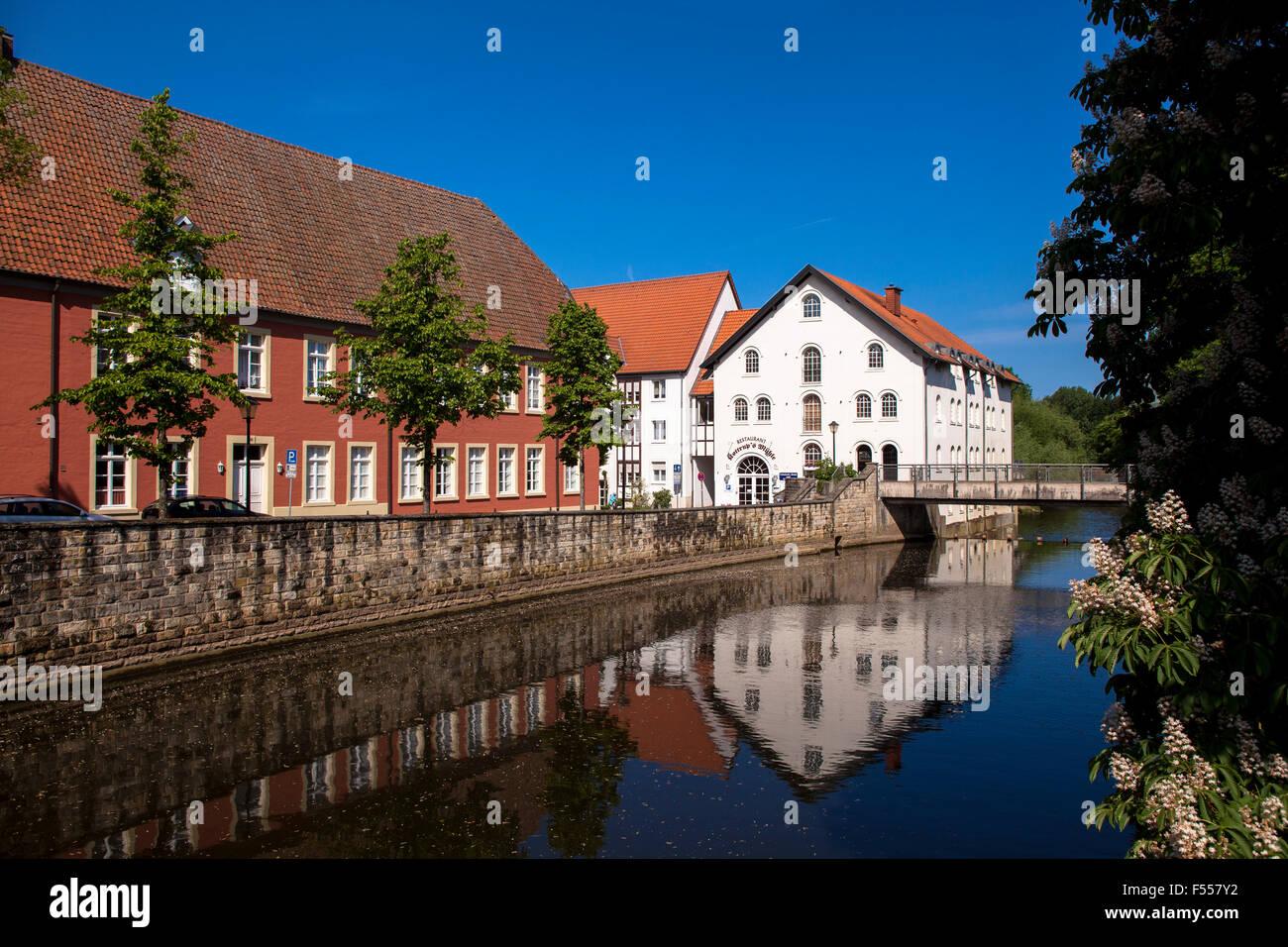 Europa, Deutschland, Nordrhein-Westfalen, Warendorf, Kottrup's Muehle an der Ems. - Stock Image