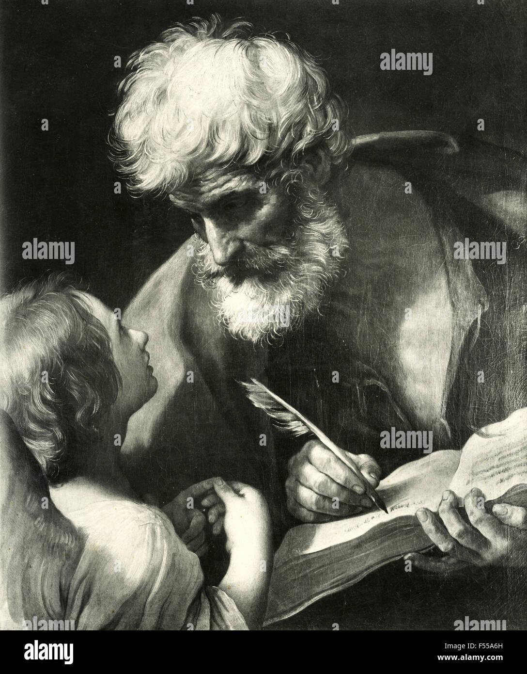 Vatican picture gallery: St. Matthew and the Angel, painting by Guido Reni - Stock Image