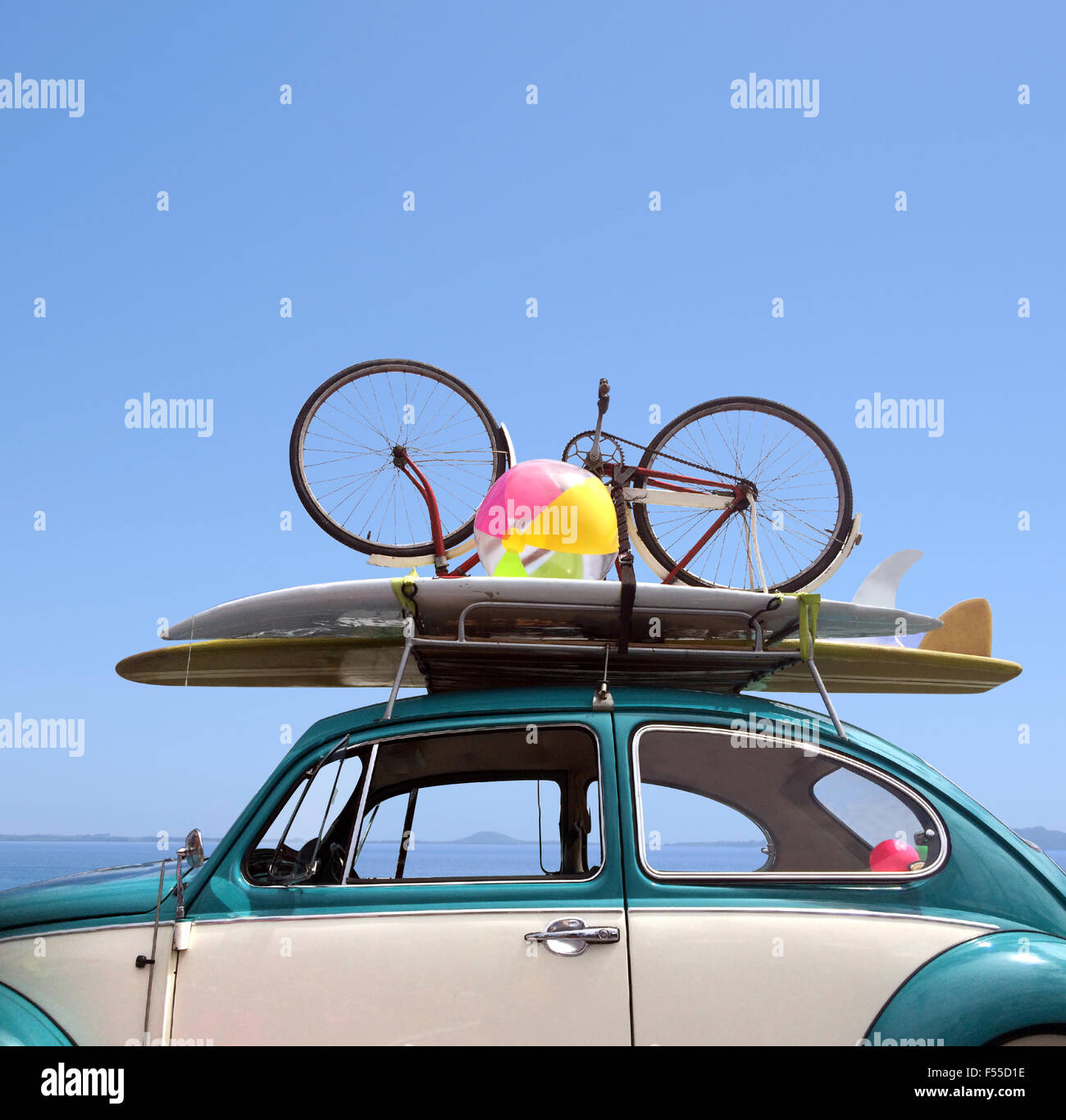 Summer holiday road trip vacation, Travel concept with copy space - Stock Image