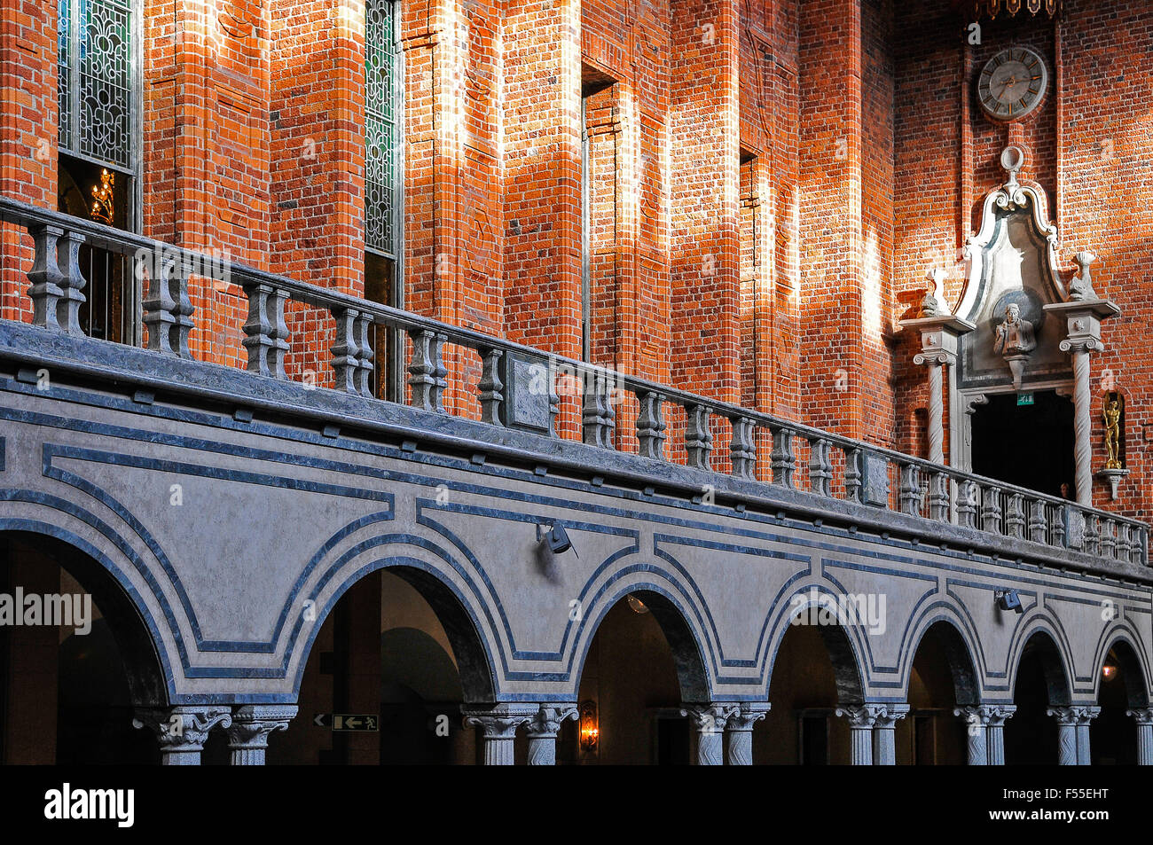 Sweden Stockholm Stadhuset or Town Hall The Blue Hall where the dinner in honour of the Nobel Prize winners is held - Stock Image