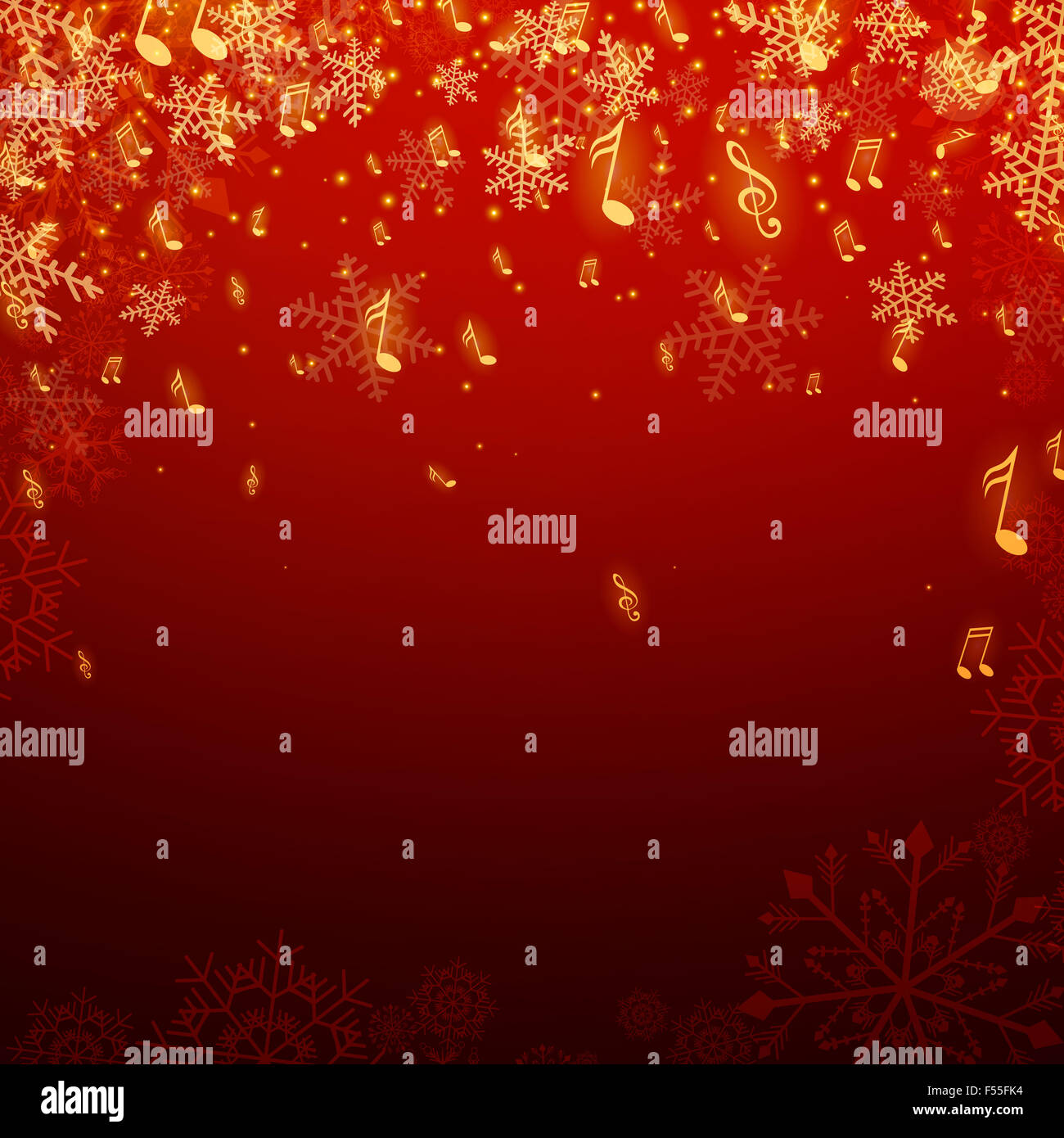 Christmas Music Background.Illustration Of A Christmas Music Background Stock Photo