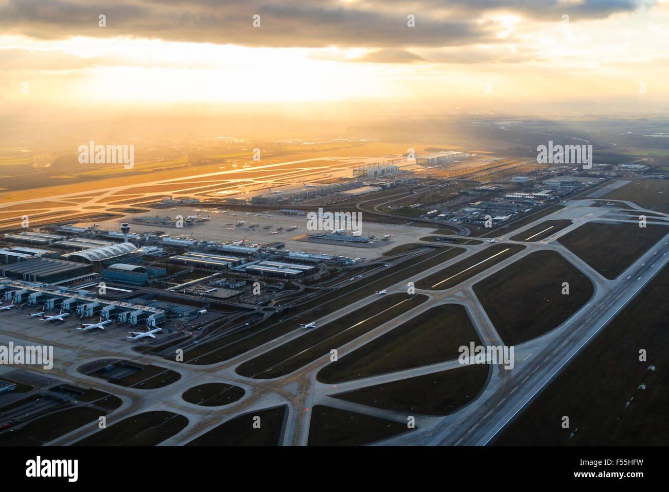 Gerany, Munich, Franz-Josef-Strauss International Airport Stock Photo