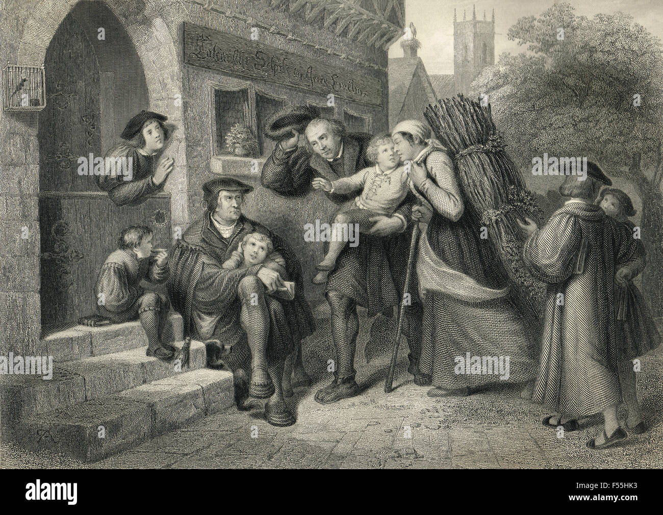 Luther attends Latin school, Mansfeld, Germany, 1488-1497 - Stock Image