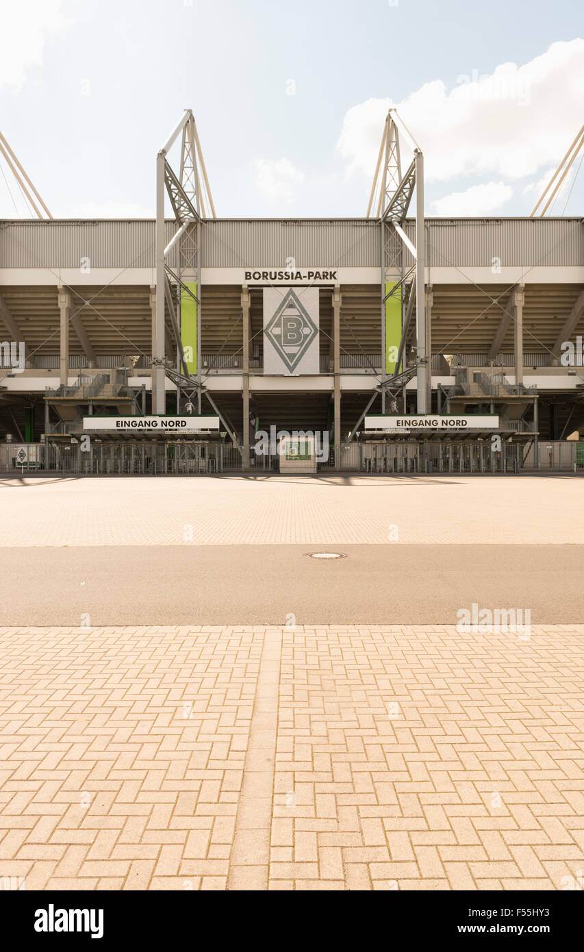 Germany, Monchengladbach, Borussia Park, Stadium entrance - Stock Image