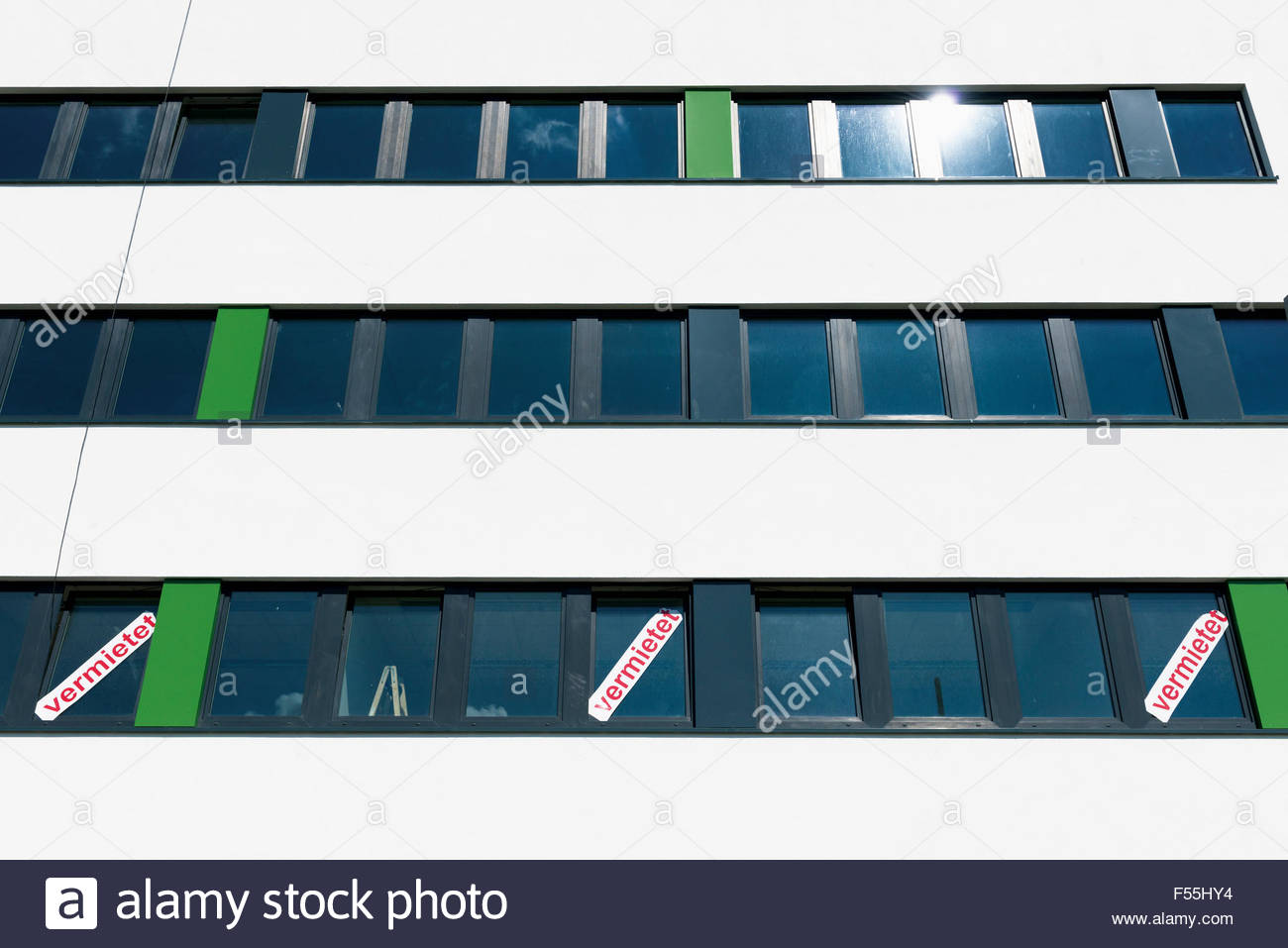 Germany, Monchengladbach, Office buiding - Stock Image