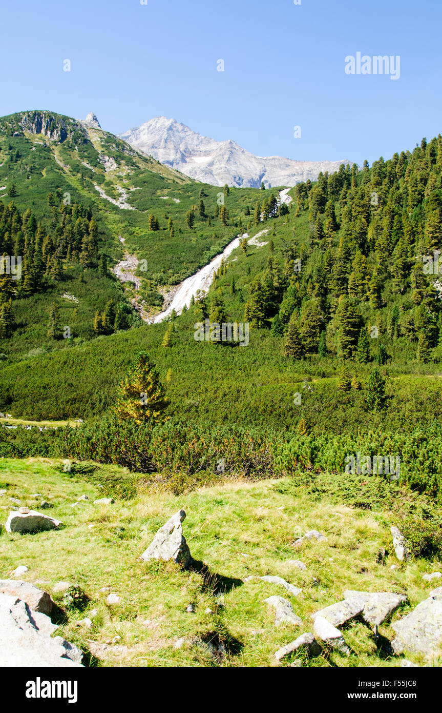Zillertal High Alpine nature Park Hochgebirgs Naturpark near Ginzling, Tyrol, Austria Stock Photo