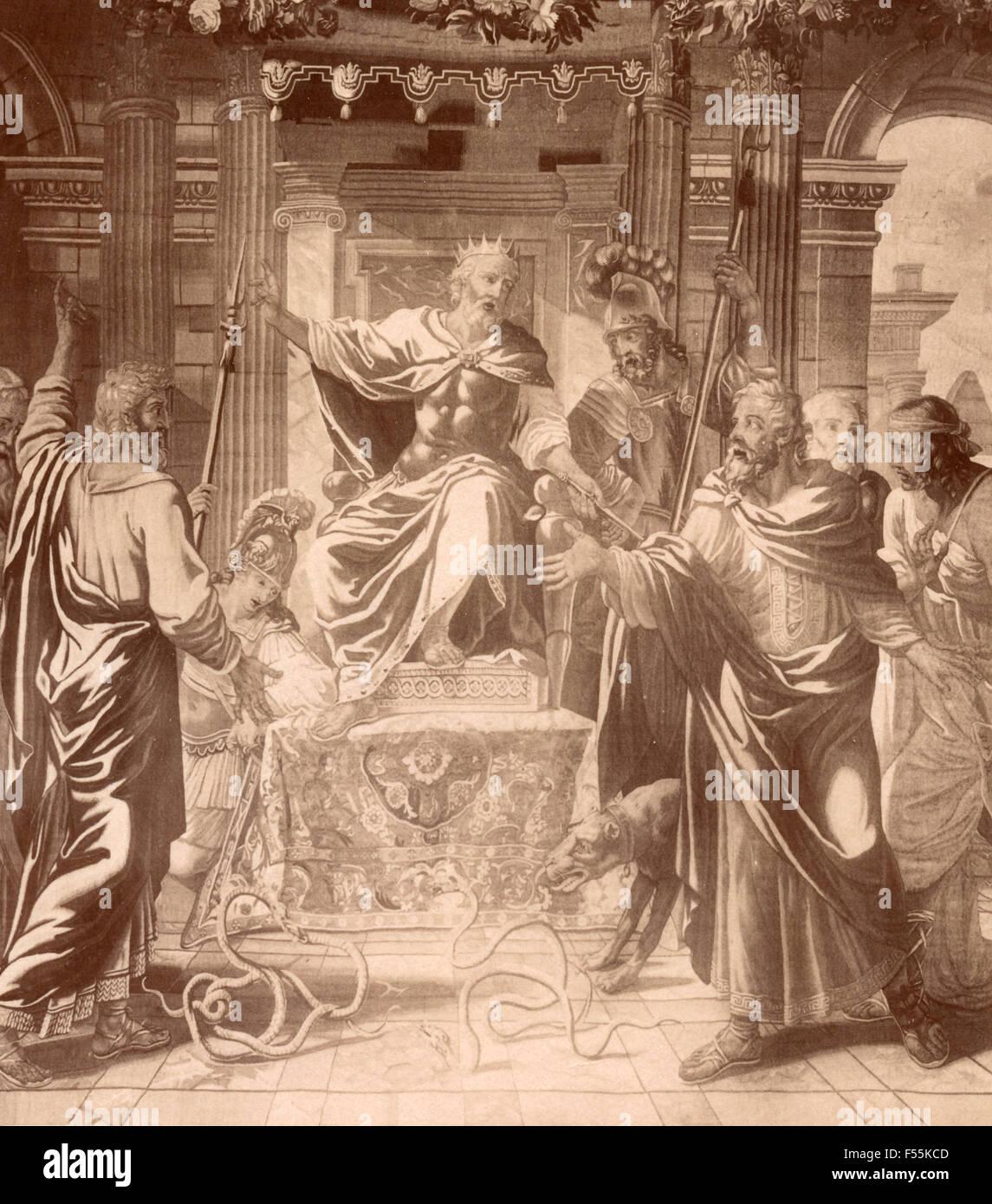 Palazzo Clerici, Milan: Tapestry depicting Herod - Stock Image