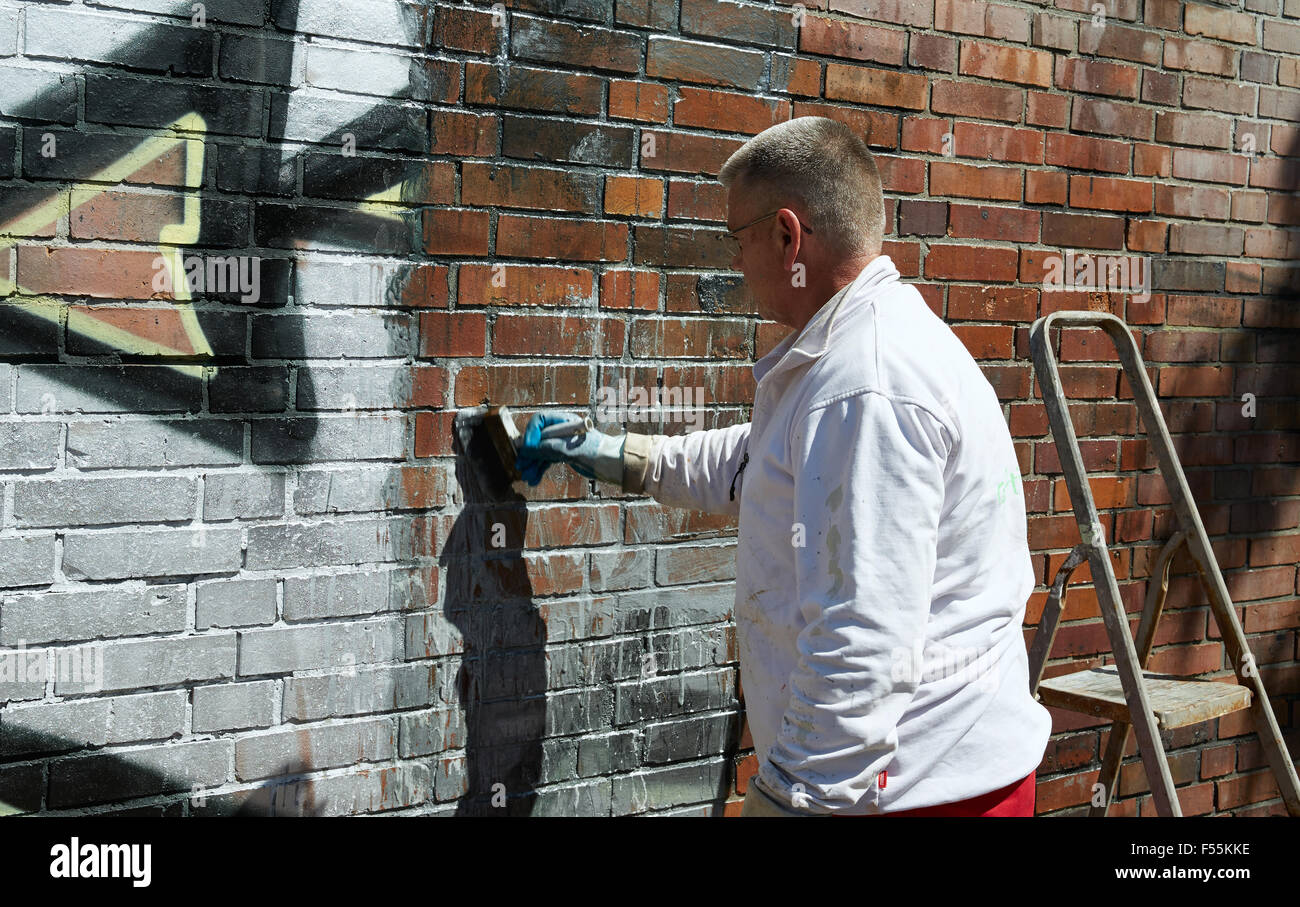 11 06 2015 Berlin Berlin Germany Removal Of Graffiti On