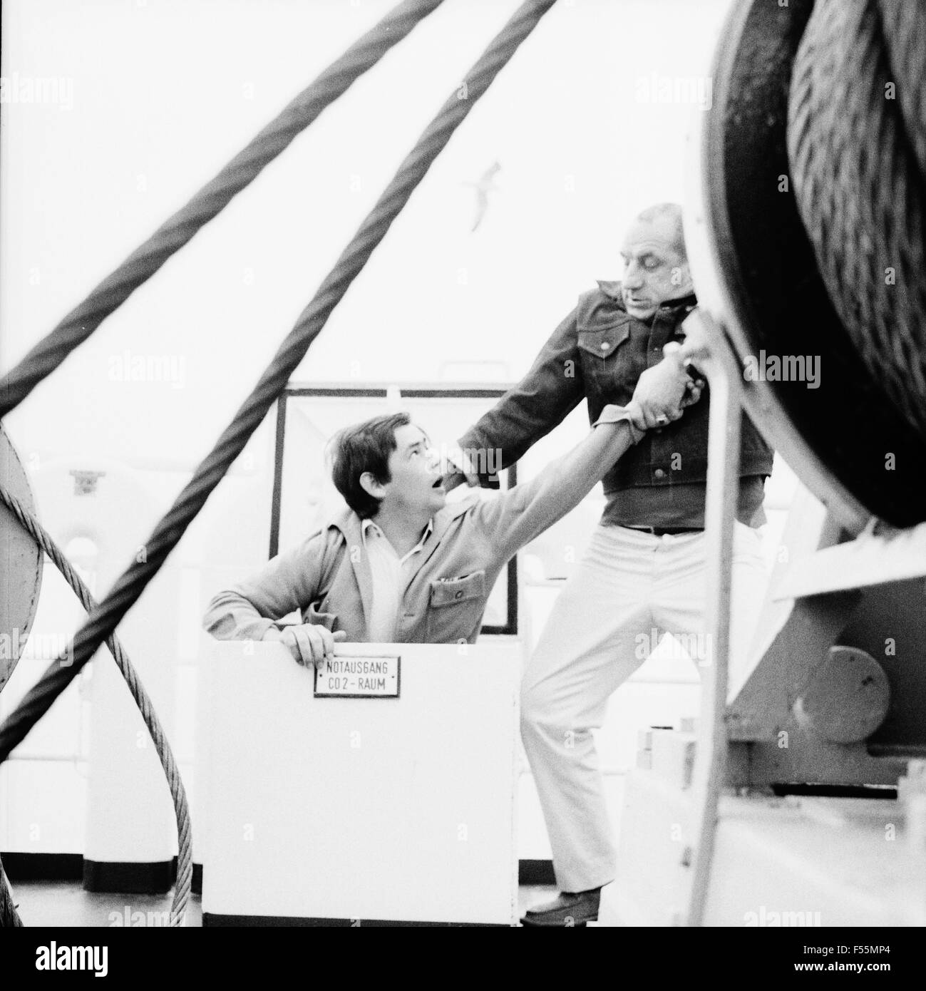 Anker auf und Leinen los!, Fernsehserie, Deutschland 1968, Regie: Hermann Kugelstadt, Szenenfoto Stock Photo