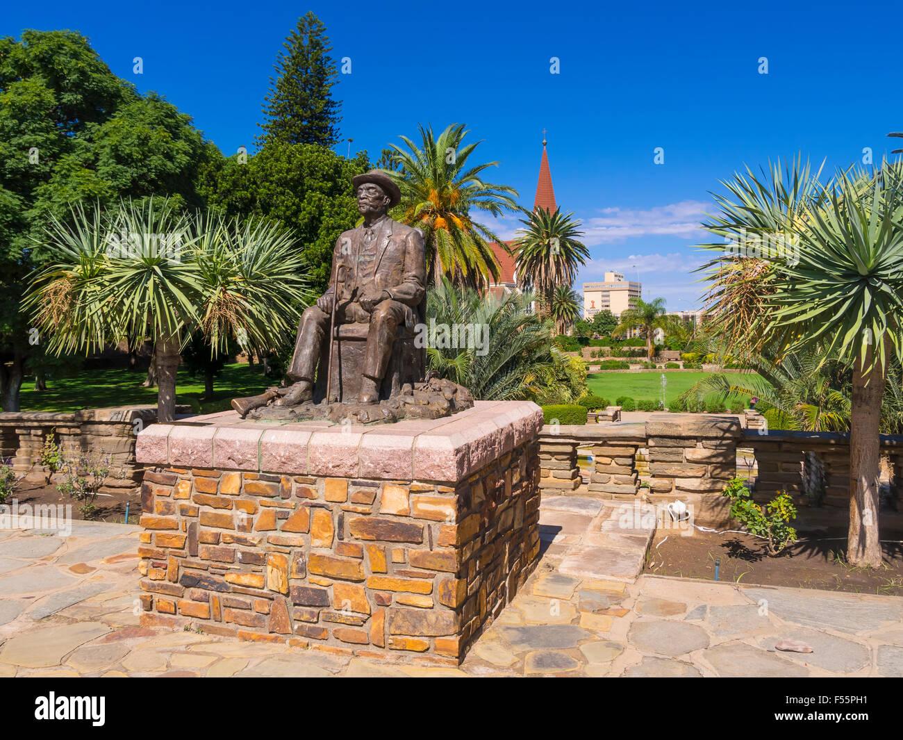 Hosea Kutako Memorial, 1870-1970, Head of State, Parliament Garden, Windhoek, Namibia - Stock Image