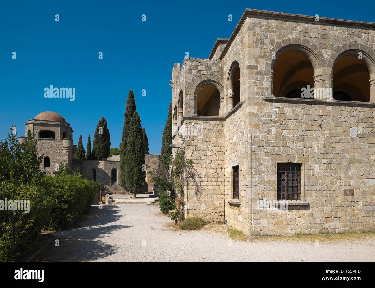 Former monastery, Filérimos, Rhodes, Dodecanese, Greece - Stock Image