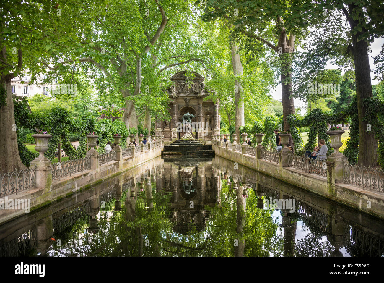 Medici Fountain Luxembourg Gardens Paris France Stock Photo