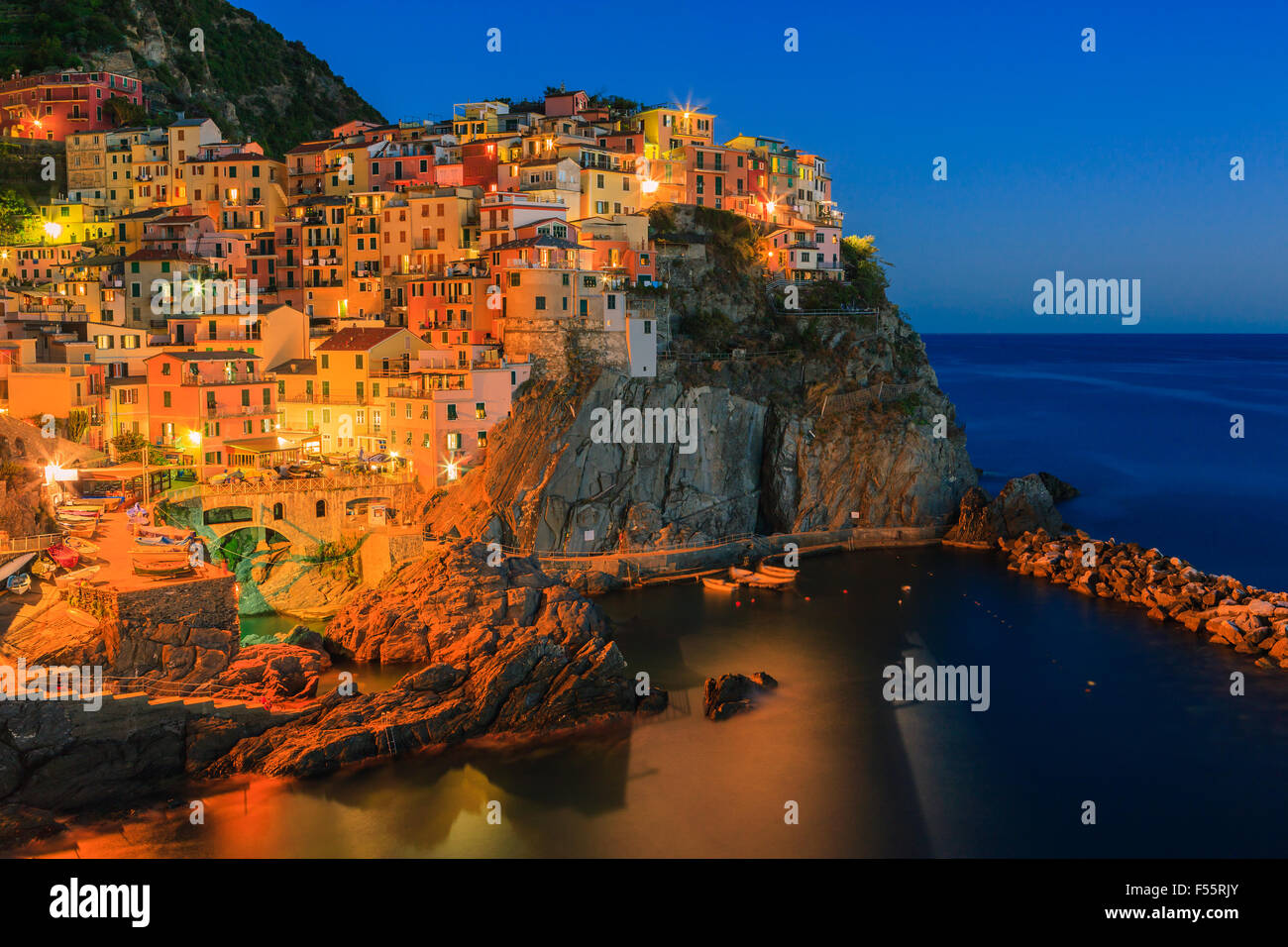 Manarola is a town and commune located in the province of La Spezia, Liguria, northwestern Italy. - Stock Image