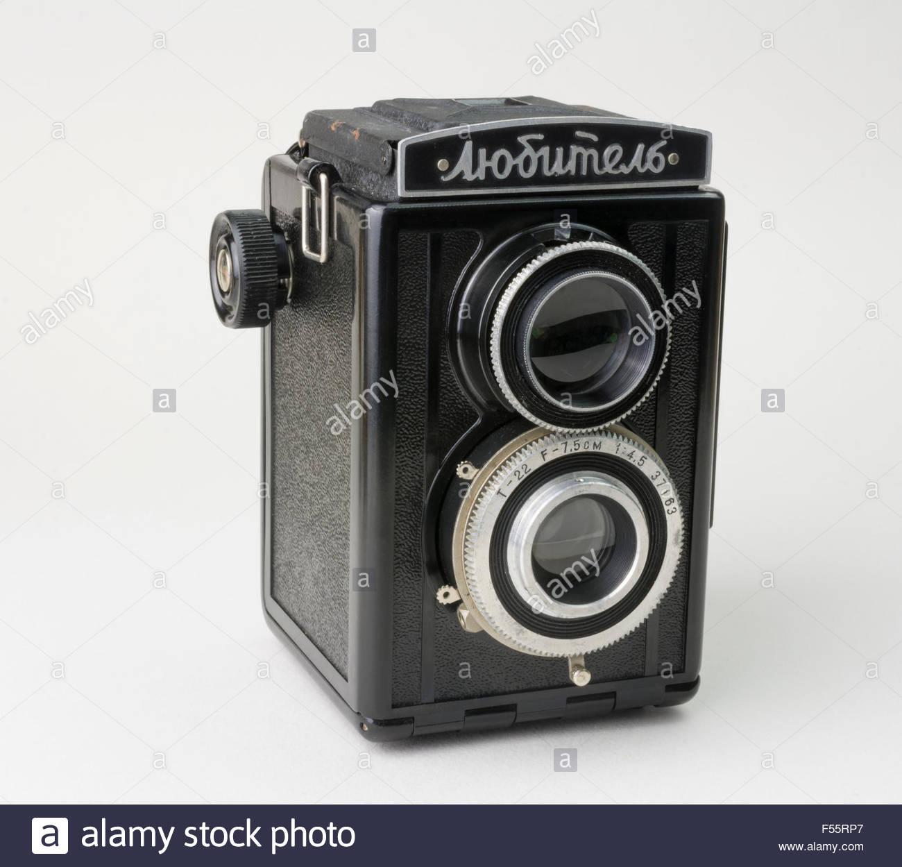 Lubitel Roll Film Camera from Soviet Russia - Stock Image