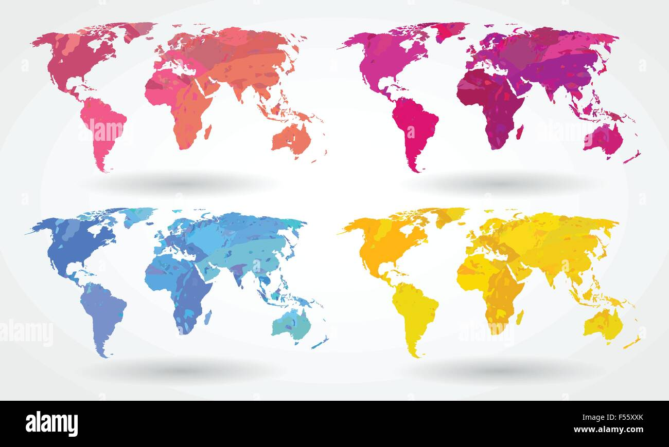 World map icons - Stock Vector