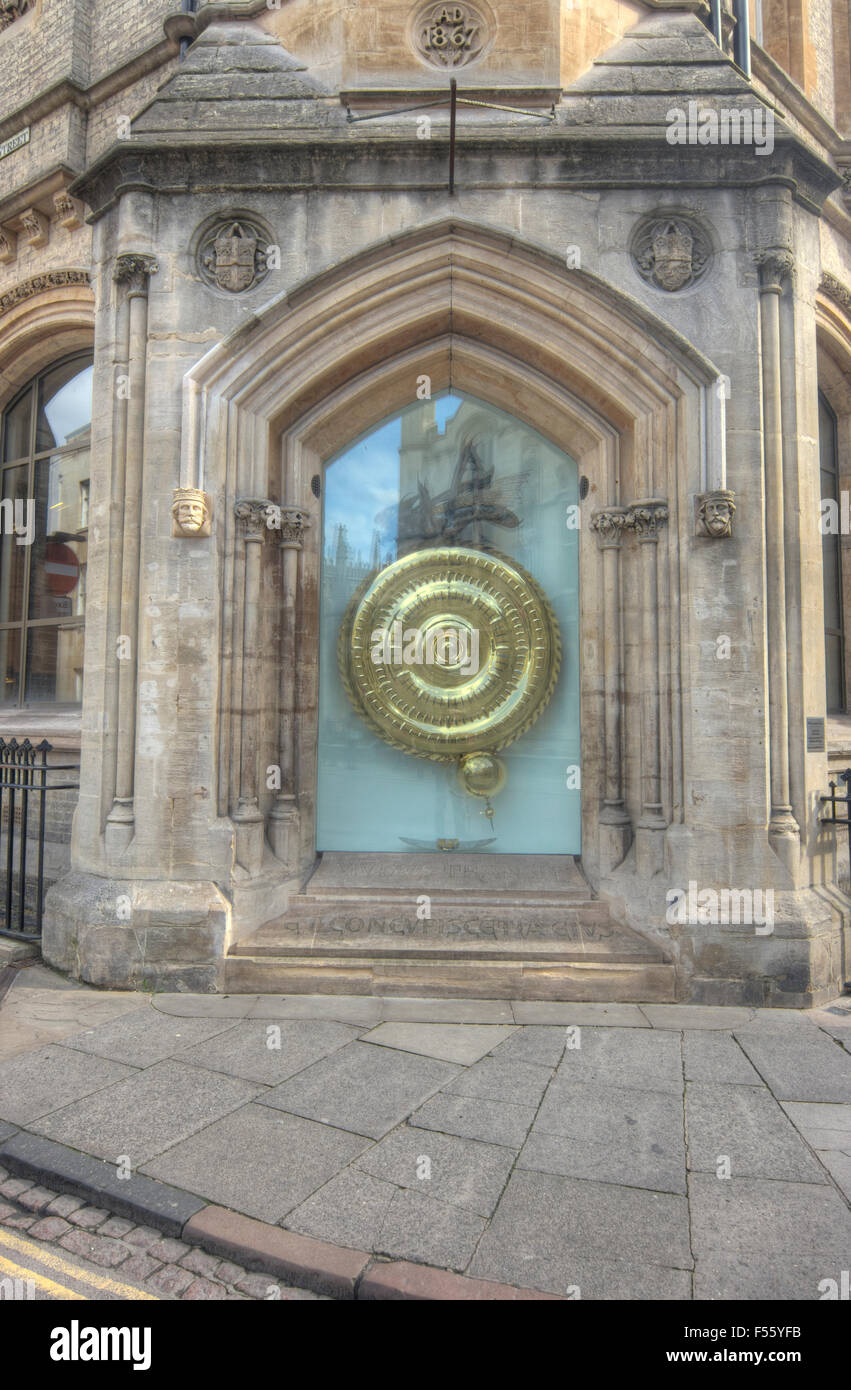 The Corpus Clock Taylor Library at Corpus Christi College - Stock Image