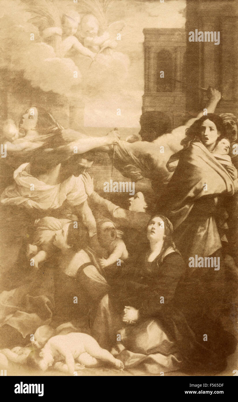Picture gallery of Bologne: Massacre of the Innocents, by Guido Reni Stock Photo