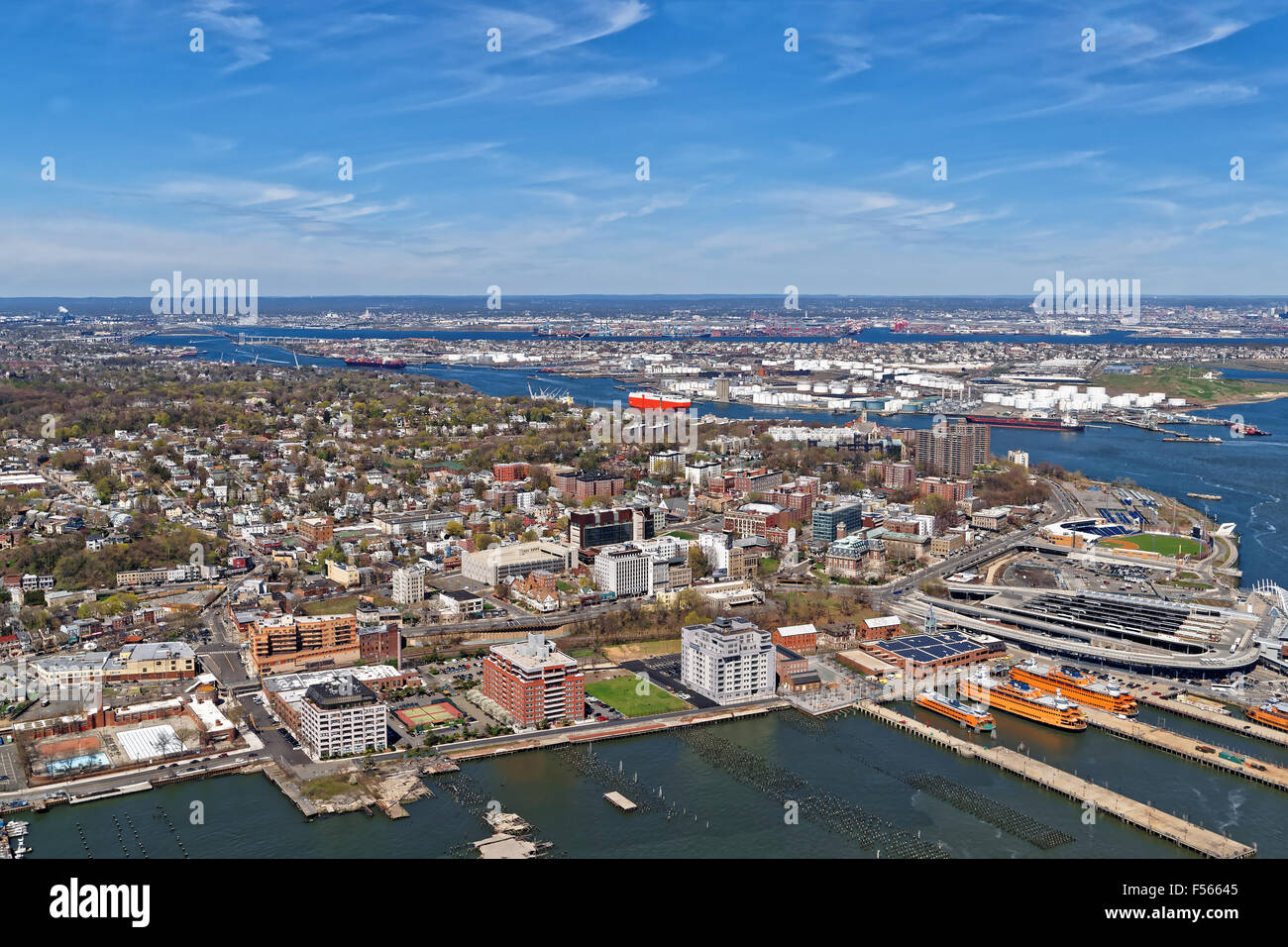 aerial view of port newark in bayonne new jersey usa the area is stock photo 89261653 alamy. Black Bedroom Furniture Sets. Home Design Ideas