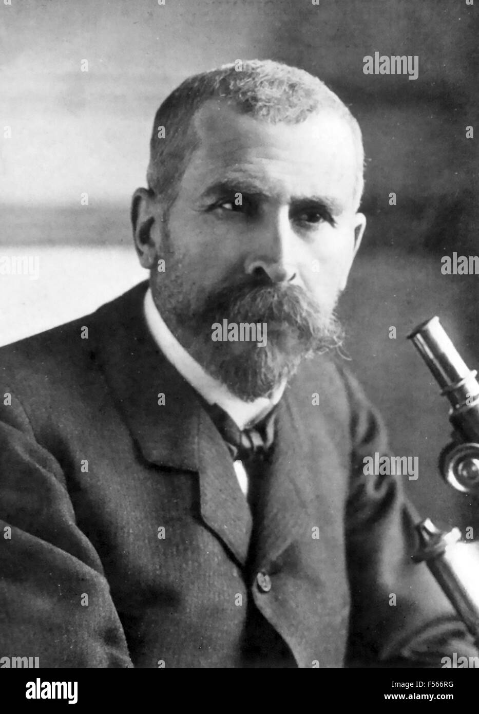 PIERRE ROUX (1853-1933) French bacteriologist about 1910 - Stock Image