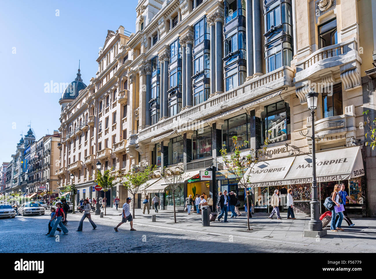 Spain, Madrid, Centro, Calle Mayor, popular and prestigious thoroughfare linking the Royal Palace and Puerta del - Stock Image