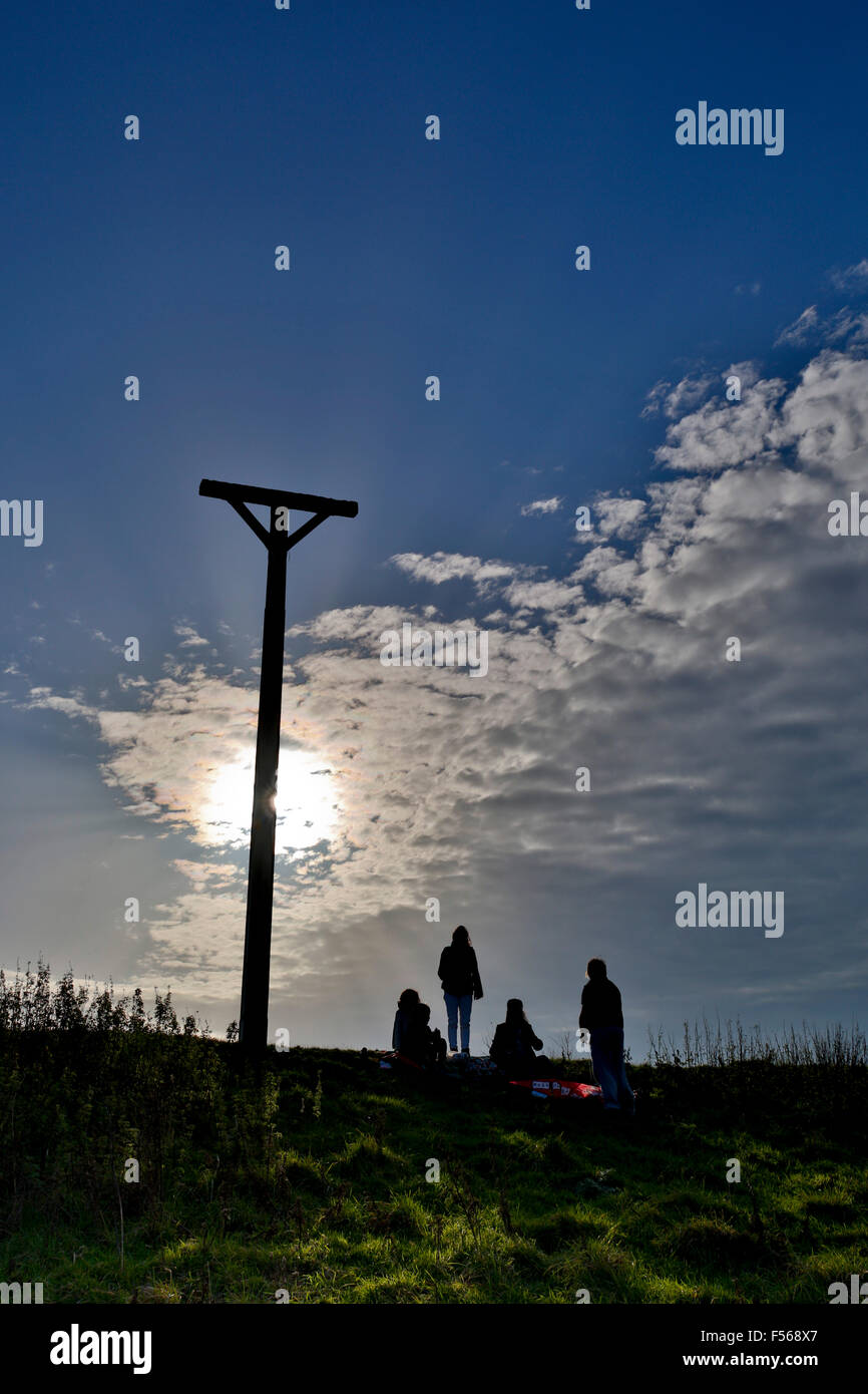 Combe Gibbet Gallows Downs; Berkshire; UK - Stock Image