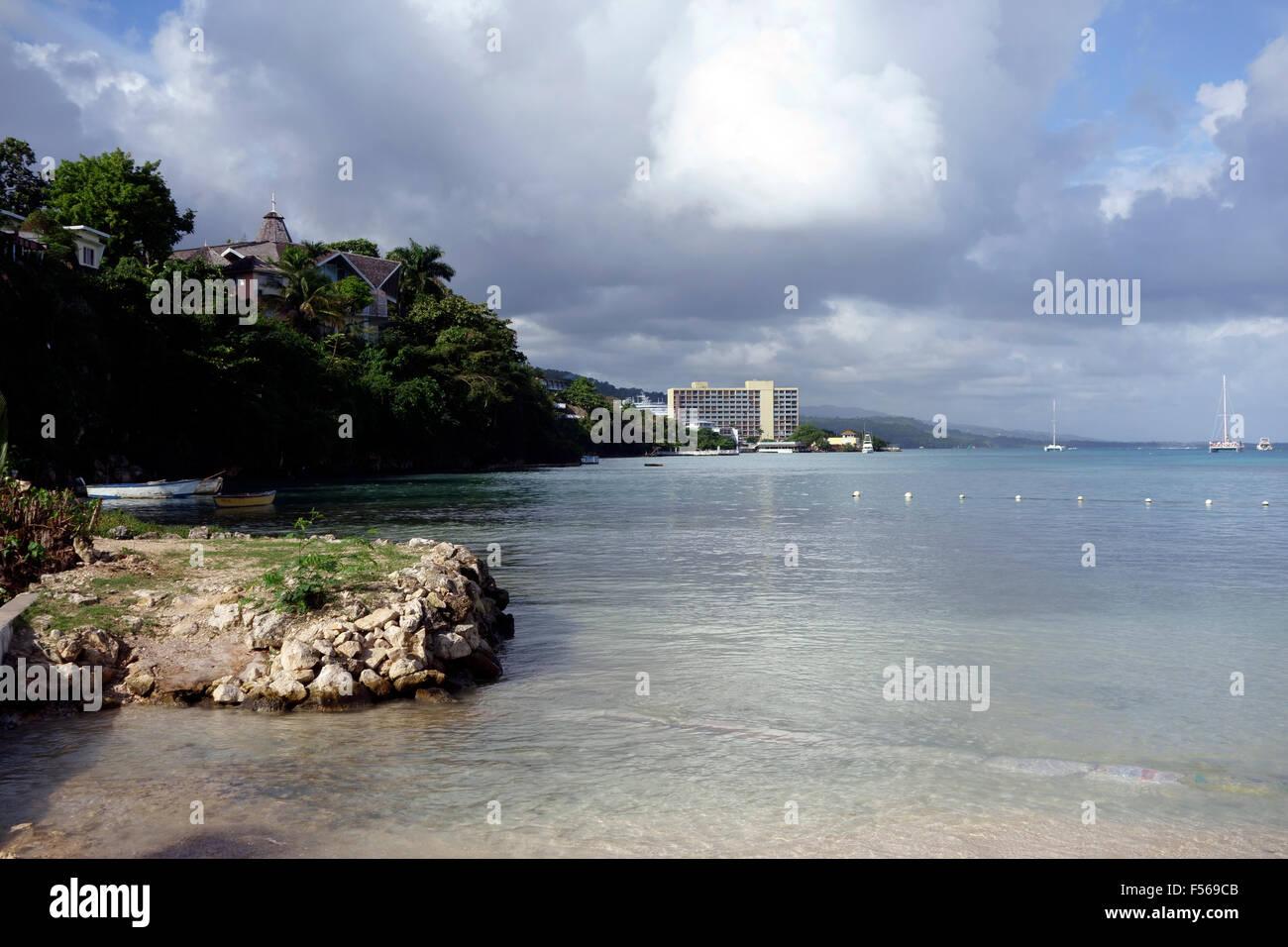 Mahogany Beach, Ocho Rios, Jamaica, Caribbean - Stock Image