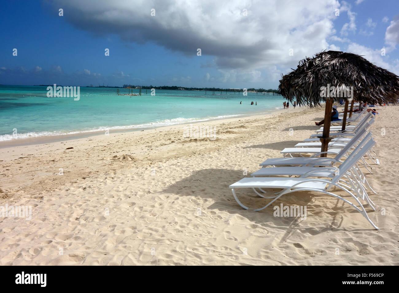 Cable Beach, Nassau, Bahamas, Caribbean - Stock Image
