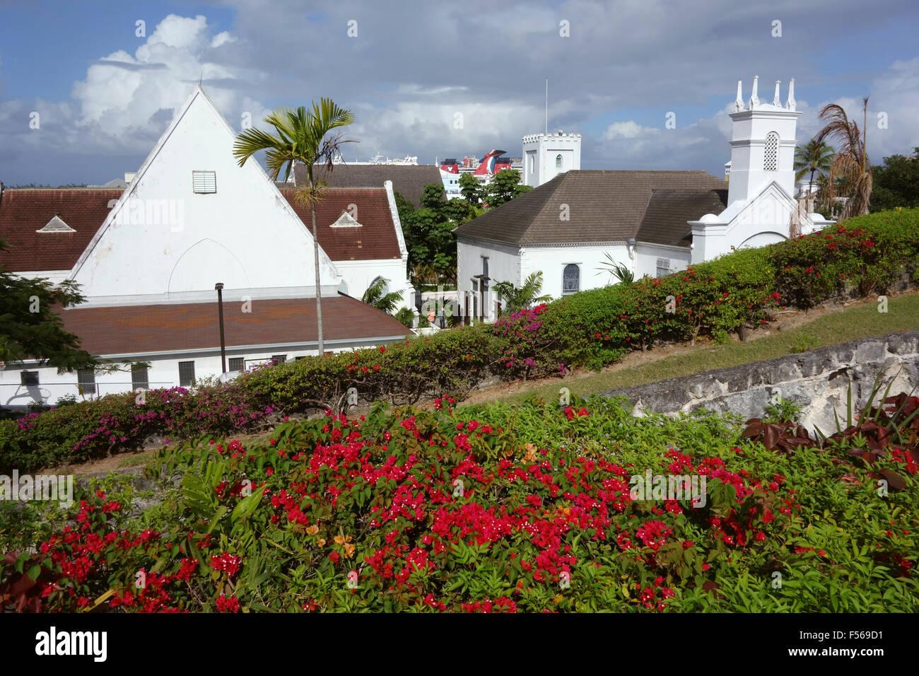 St. Andrew's Presbyterian Church, Nassau, Bahamas, Caribbean - Stock Image