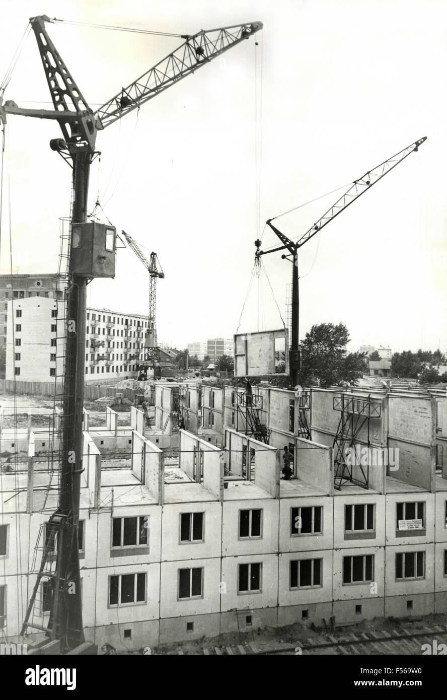 Construction of new homes in Horosjevo-Mnevniki, Moscow, Russia - Stock Image