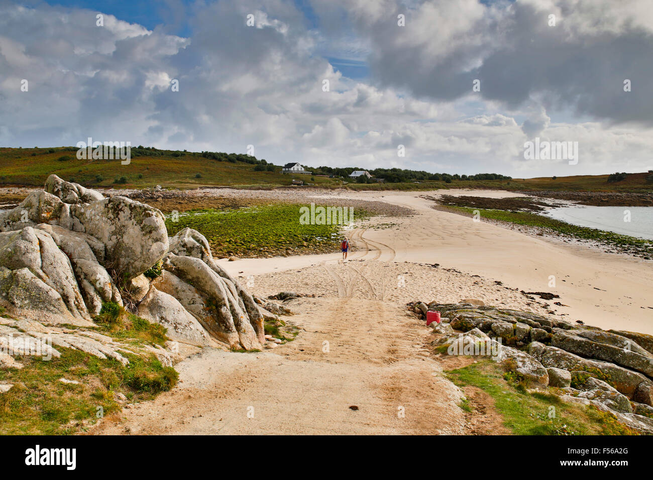 St Agnes, Gugh; Isles of Scilly; UK - Stock Image