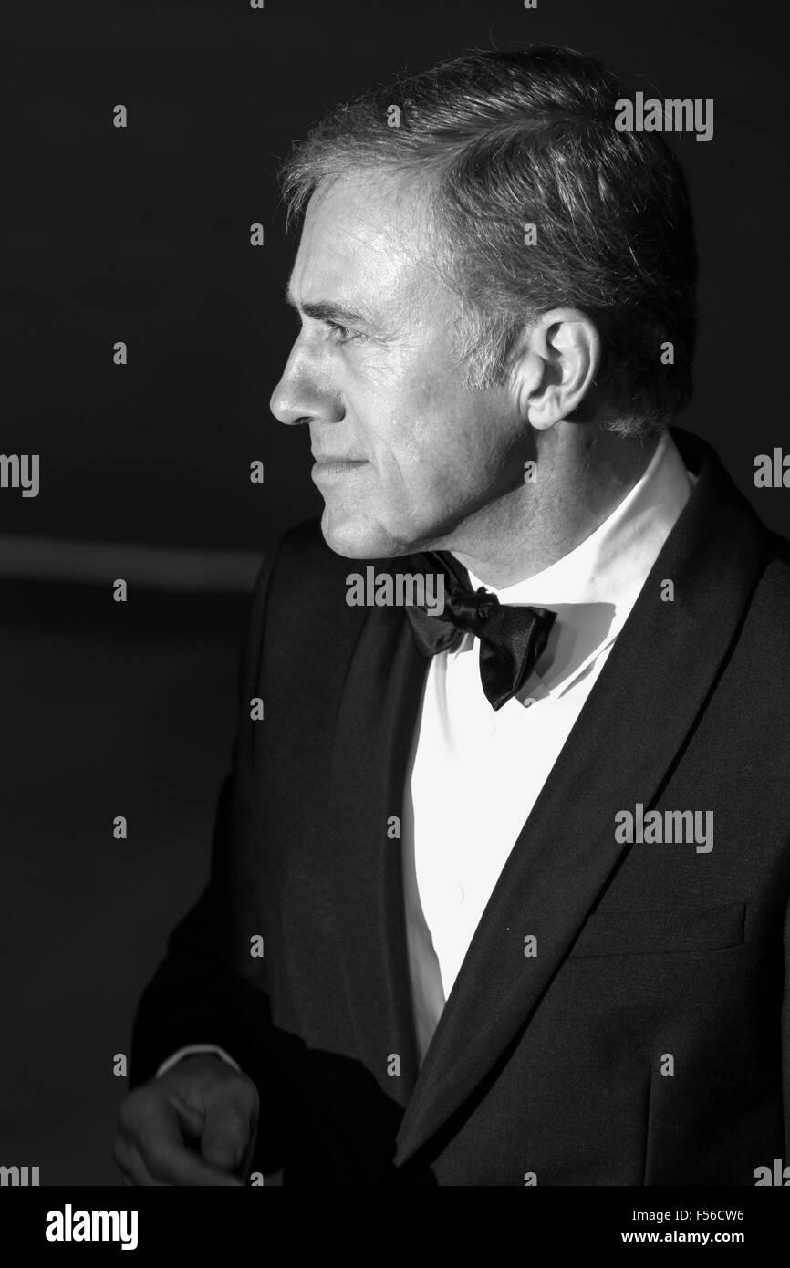 London, UK. 26/10/2015. Actor Christoph Waltz. CTBF Royal Film Performance, World Premiere of the new James Bond - Stock Image