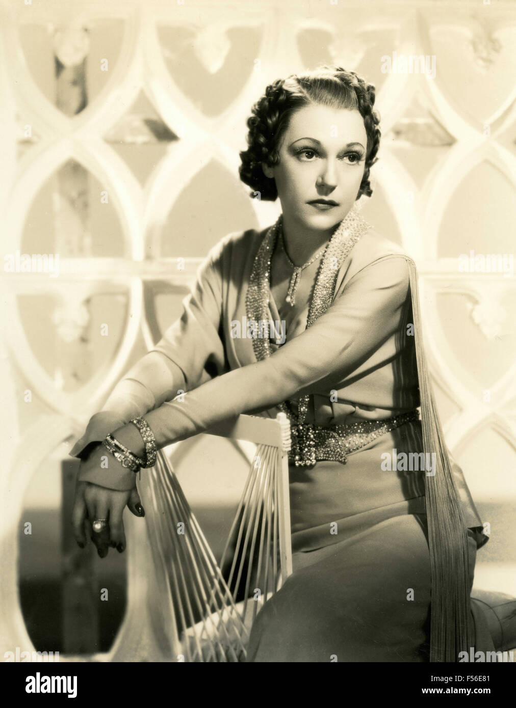 Actress unidentified - Stock Image