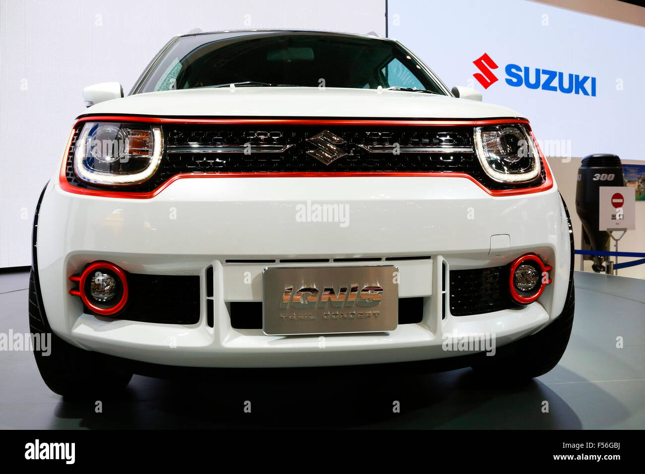 The New SUZUKI IGNIS Car On Display During 44th Tokyo Motor Show 2015 In Big Sight October 28 Japan Will Be Open To