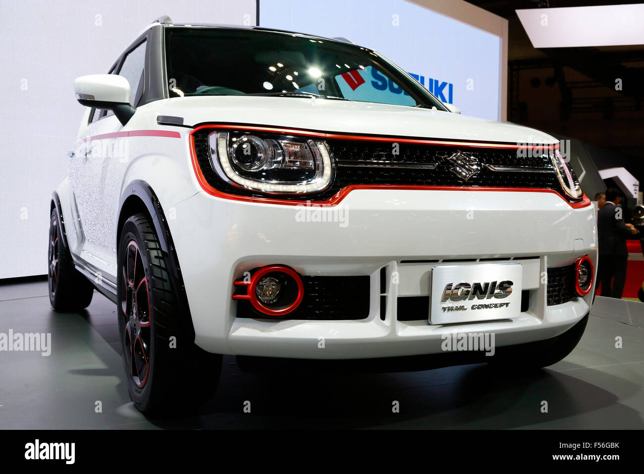 The New SUZUKI IGNIS Car On Display During 44th Tokyo Motor Show 2015 In