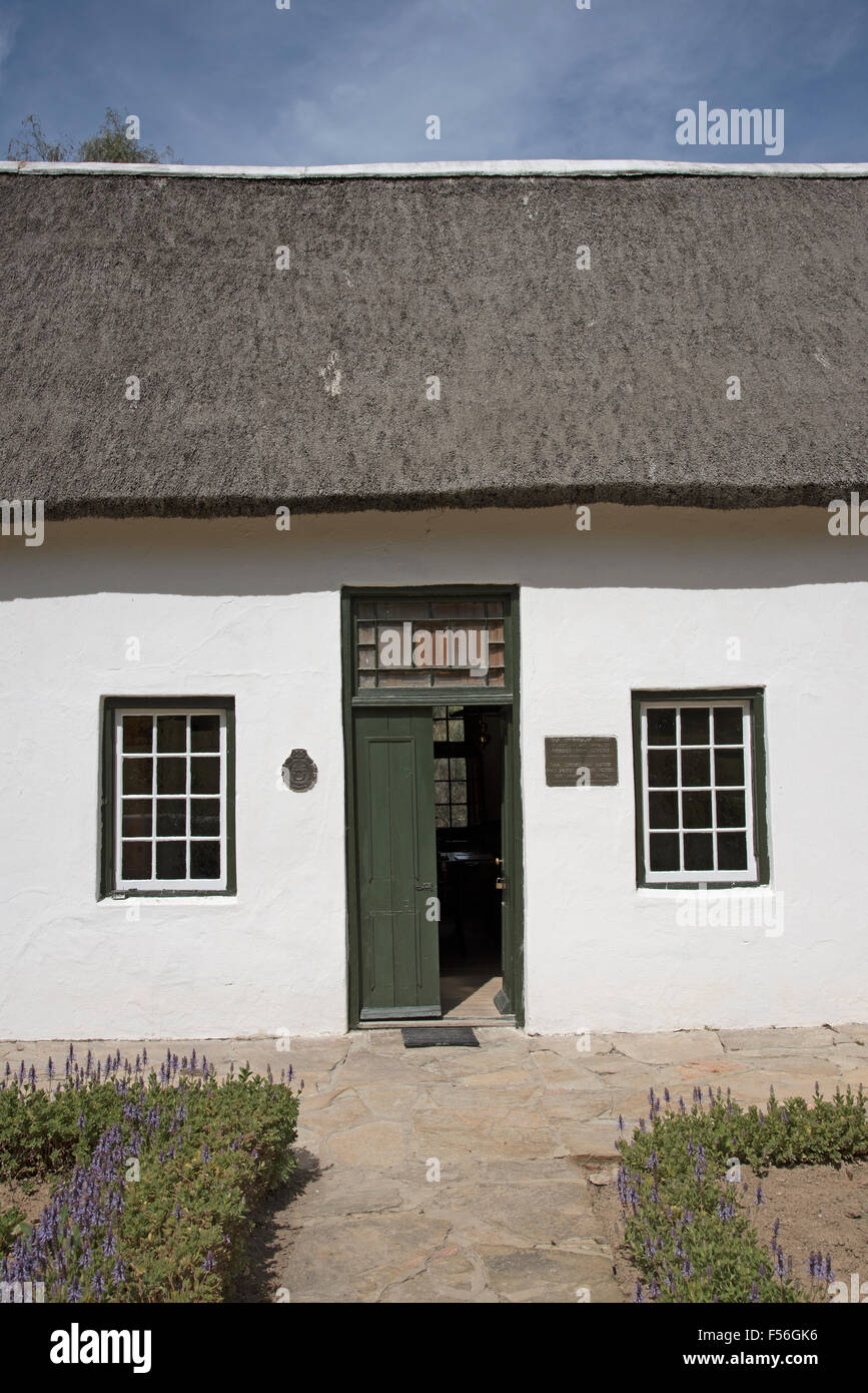 Smuts Cottage birthplace of General Jan Smuts at Riebeeck West South Africa - Stock Image