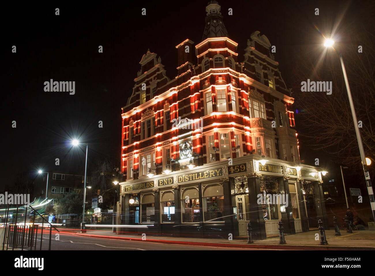 The World's End Market - A famous pub at King's Road, Chelsea, London - Stock Image