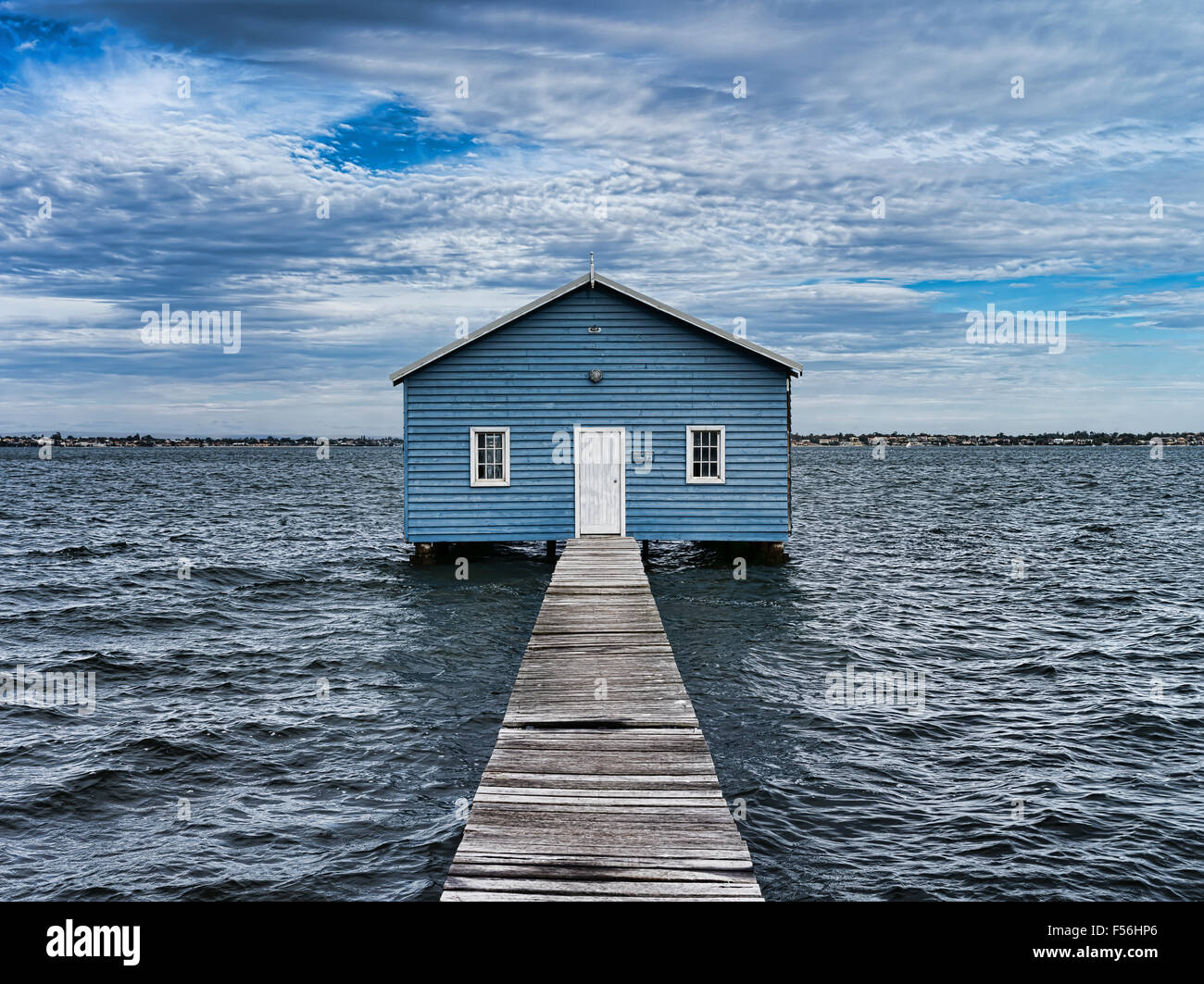 Crawley Boat House On The Swan River Perth Western Australia - Stock Image