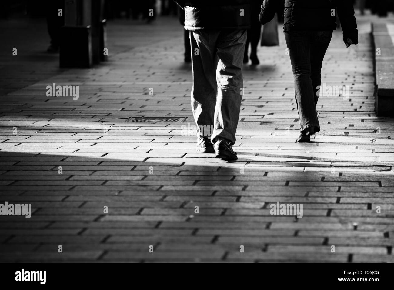 Walking through Glasgow - Stock Image