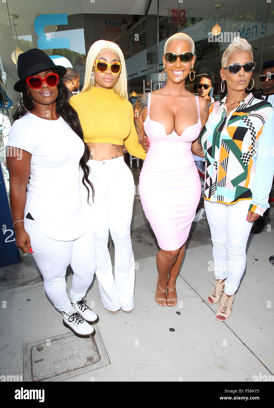 Amber Rose And Her Bff Blac Chyna Hand And Hand At Her Meet And