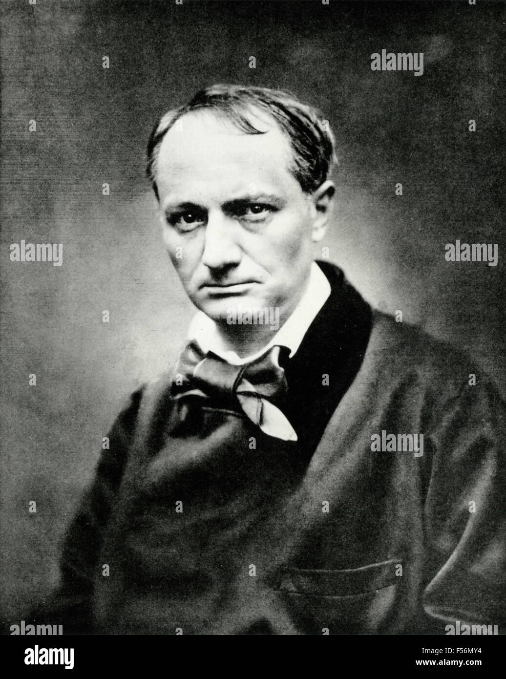 Portrait of the French poet Charles Baudelaire Stock Photo - Alamy